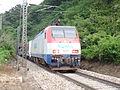 Korail EL8203 Pulling Mugunghwa Train in Front of the Jungang Line Chiak Tunnel.JPG