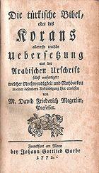 Koran by Megerlein 1772