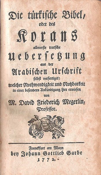 Title page of the first German translation of ...