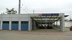 Krefeld-Uerdingen station - New station entrance, 2015