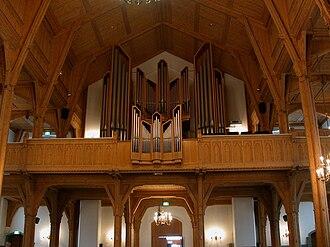 Kristiansand Cathedral - Image: Kristiansand domkyrkje orgelet