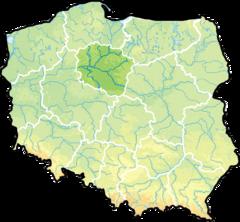 województwo kujawsko-pomorskie na mapie Polski