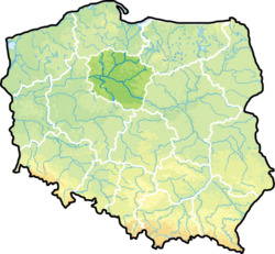Voivodeship on a map of Poland