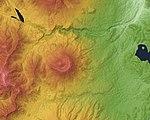 Kurohime Volcano Relief Map, SRTM-1.jpg