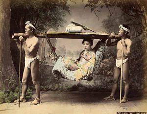 Kusakabe Kimbei - Image: Kusakabe Kimbei 232 Kago Travelling Chair