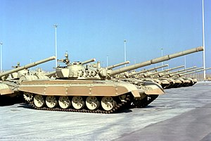 Gulf War - Kuwaiti Armed Forces M-84 main battle tanks