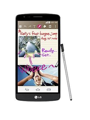 LG G3 Stylus - Image: LG G3 Stylus (Black, Front)