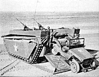 Landing Vehicle Tracked Type of Amphibious vehicle