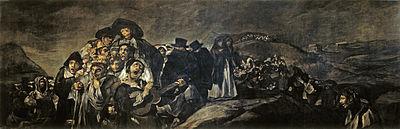 La romería de San Isidro refleja el estilo característico de las Pinturas Negras.