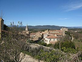 A general view of Labastide-de-Virac