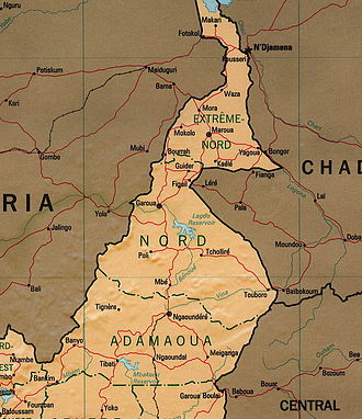 Lagdo Reservoir - Location of Lagdo Reservoir in the centre in northern Cameroon.