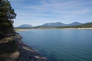 Lake Koocanusa - Image: Lake Koocanusa