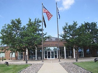 Lakeville, Minnesota - The Lakeville city hall in summer