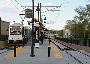 Lamar station (RTD) - The station in May, 2013.