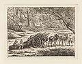 Landschap met een door twee paarden getrokken kar Landschappen (serie C) (serietitel), RP-P-OB-24.230.jpg
