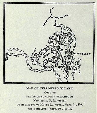 Mount Doane - Image: Langford Yellowstone Lake Map