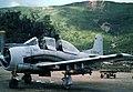 Laotian North American T-28D-5 at Long Tien, Laos, in September 1972.jpg