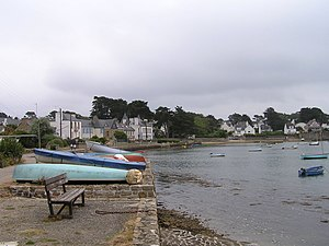Larmor-Baden - A view of the bay of Port Lagaden