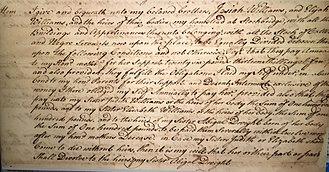 Ephraim Williams - Image: Last Will and Testament (1755)