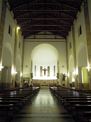 Latina Cathedral - Interior looking east