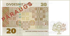 Latvian lats - 250 px