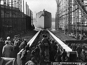 SS Empire Clough - Image: Launch of the cargo ship 'Empire Clough' (23085004346)