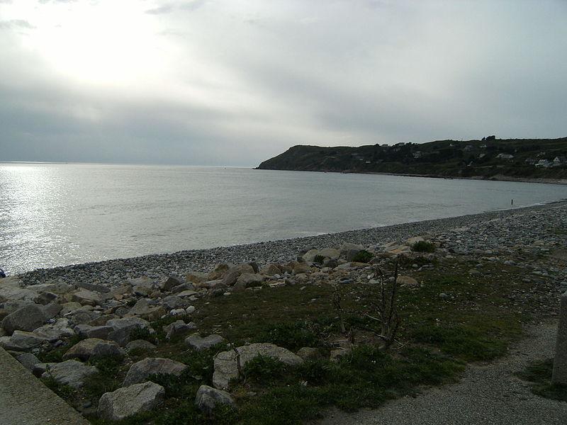 Vue sur la plage du Rozel.
