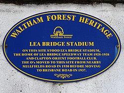 Lea bridge stadium (waltham forest heritage)