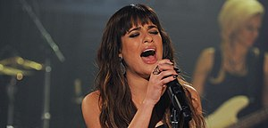Louder (Lea Michele album) - Michele performing songs from Louder at the Walmart Soundcheck in May 2014