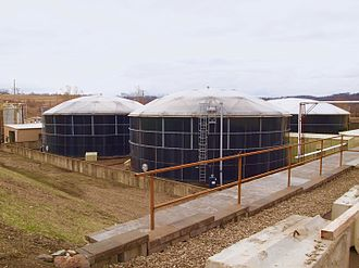 Leachate - Leachate processing / equalization tanks used in leachate treatment before releasing to a river.