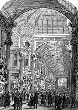 Leadenhall Market - Image: Leadenhall Market Illustrated London News 1881