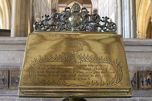 Robert Creighton - Lectern given to Wells Cathedral by Robert Creighton on his appointment as Dean of Wells in 1660