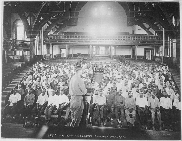 File:Lecture at the S.A.T.C. Tuskegee Normal and Industrial Institute, Tuskegee, Alabama. Photographic Division, Tuskegee... - NARA - 533481.tif