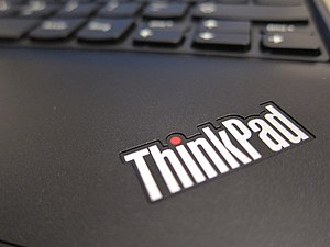 Lenovo - The ThinkPad logo, as shown on the ThinkPad x100e notebook computer