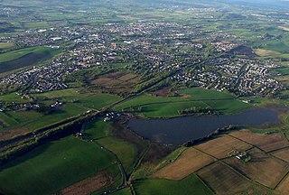 Lenzie settlement in East Dunbartonshire, Scotland