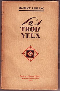 Les Trois Yeux by Maurice Leblanc (book cover, 1920).jpg