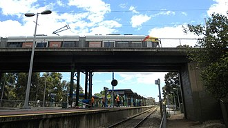 Goodwood railway station - Goodwood Station with the Glenelg Tram overpass.