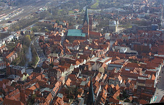 Lüneburg - Aerial photograph of the south of the town centre