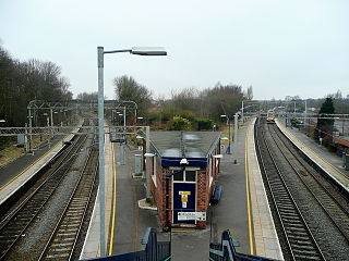 Kidsgrove railway station station serving the town of Kidsgrove in Staffordshire, England