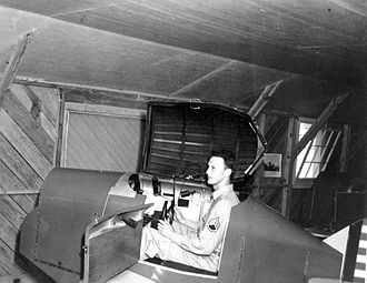 Link Trainer - Link Trainer at Freeman Field, Seymour, Indiana. Freeman Field was a US Army Air Force field in World War II.