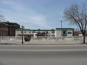 Linneman Building - Parking lot on the site of the Linneman Building