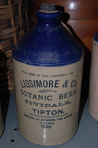 Tividale - Image: Lissimore & Co stone bottle