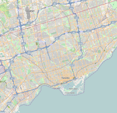 Location map Canada Toronto
