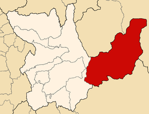 Puerto Inca Province - Image: Location of the province Puerto Inca in Huánuco