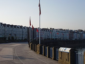 Douglas, Isle of Man - Douglas Promenade, which runs nearly the entire length of beachfront in Douglas