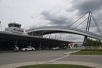 London International Airport arrivals outside.jpg