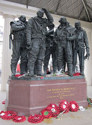 RAF Bomber Command Memorial - Sculpture within the memorial
