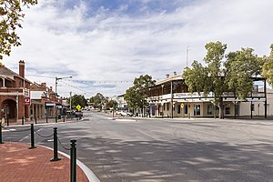 Narrandera - East Street, main street of Narrandera