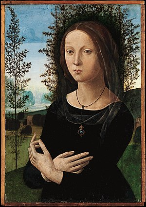 Lorenzo di Credi -  Portrait of a Young Woman.