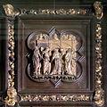 Lorenzo ghiberti e aiuti, porta nord del battistero di firenze, cornici, 20 pentecoste.JPG